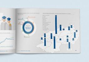 Der Kapiteleinstieg »Daten und Fakten«, durch Illustrationen und Infografiken aufgelockert, wird hier abgebildet.