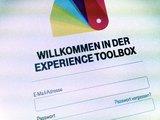 Der Login Bereich der Experience Toolbox.