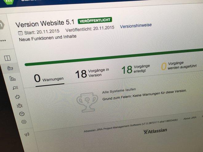 mehrwert Website 5.1 im JIRA Release