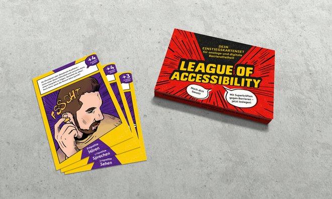 Das LoA Kartenset mit Box und Beispielkarten