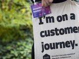 Jutebeutel der push conference 2016 mit der Aufschrift I'm on a customer Journey.