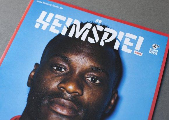 Titelseite des Stadionmagazins »Heimspiel« von Fortuna Köln