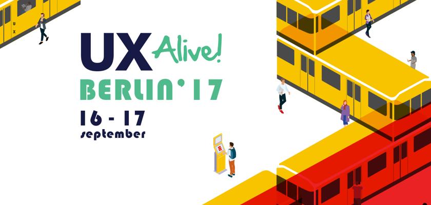 Poster der Veranstaltung UX Alive Berlin 2017